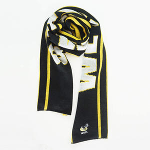 High Quality Wholesale Customized Logo Double Side Fan Knitted Sports Soccer Club Football Scarf