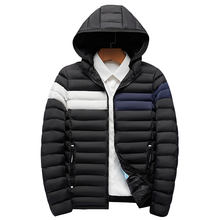 Winter Men Hooded Cotton Padded Puffer Jacket Wholesale Plus Size Men Windproof Fashion Bubble Jacket
