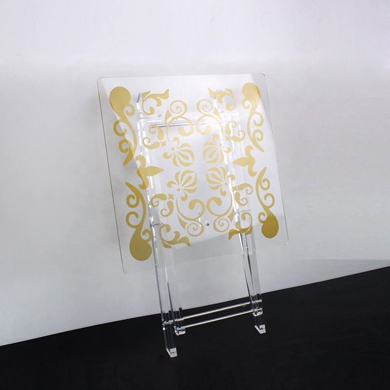 acrylic folding table, acrylic clear folding furniture