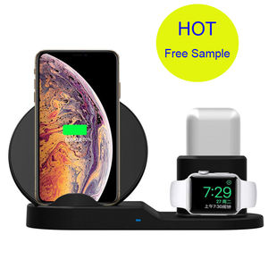 2021 10w 15w Wireless Charger For Iphone XS XR XS Max 3 In 1 Wireless Charger Dock Station For Charging Stand