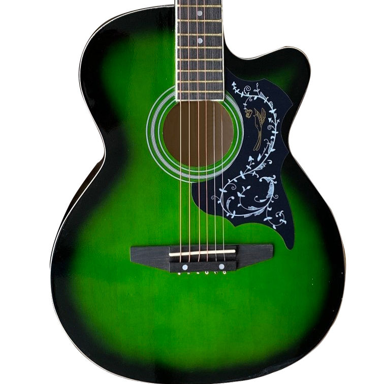 OEM/ODM colourful playable acoustic guitar for beginner