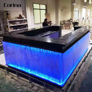 Corina Luxury acrylic solid surface modern bar counters commercial bar counter LED bar table