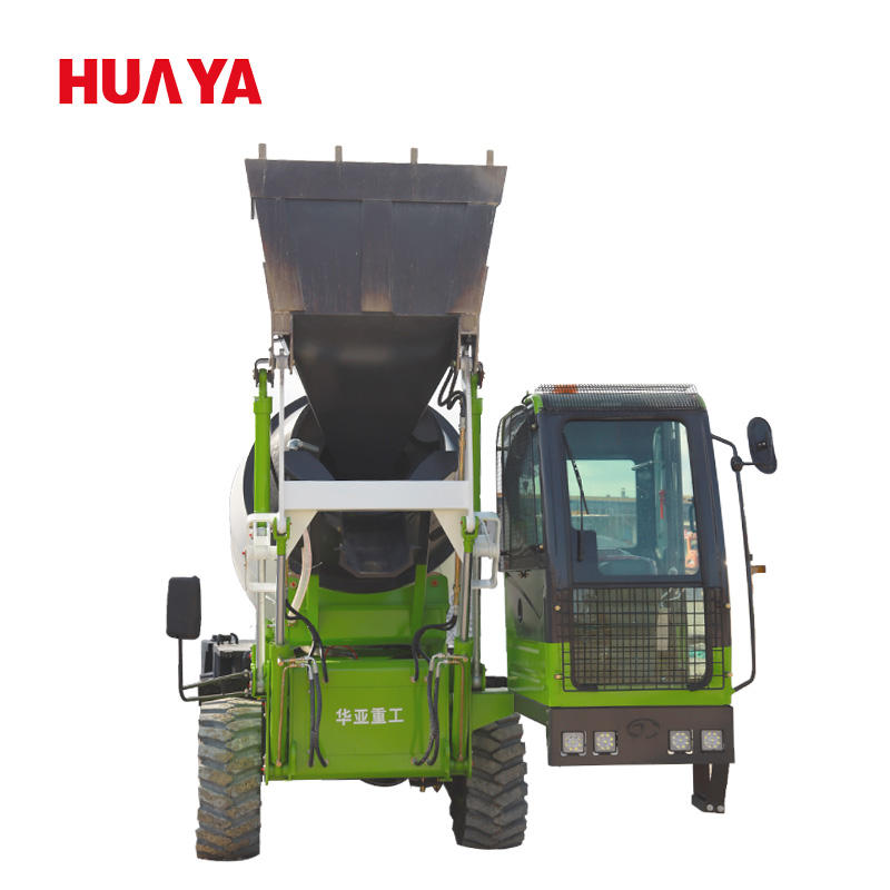3CBM mobile mixer machines concrete with self loading HUAYA china