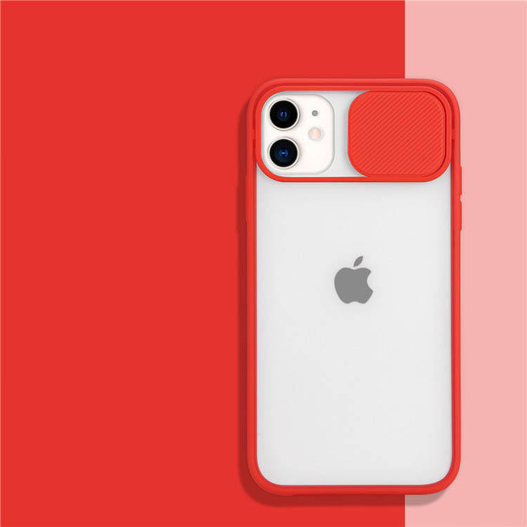 2020 Latest Product Soft TPU Sliding Design Camera Protective Phone Back Cover for iPhone 11 12 Case