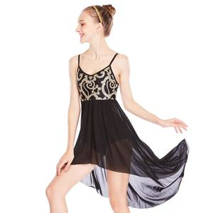 Customized Sequins Elegant MiDee Modern Dance Lyrical Costumes Fairy High-low Skirt Ballet Dance Dress