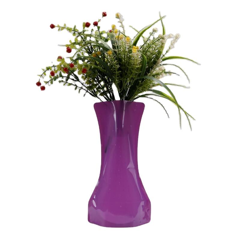 High quality clear plastic foldable flower vase for home decoration