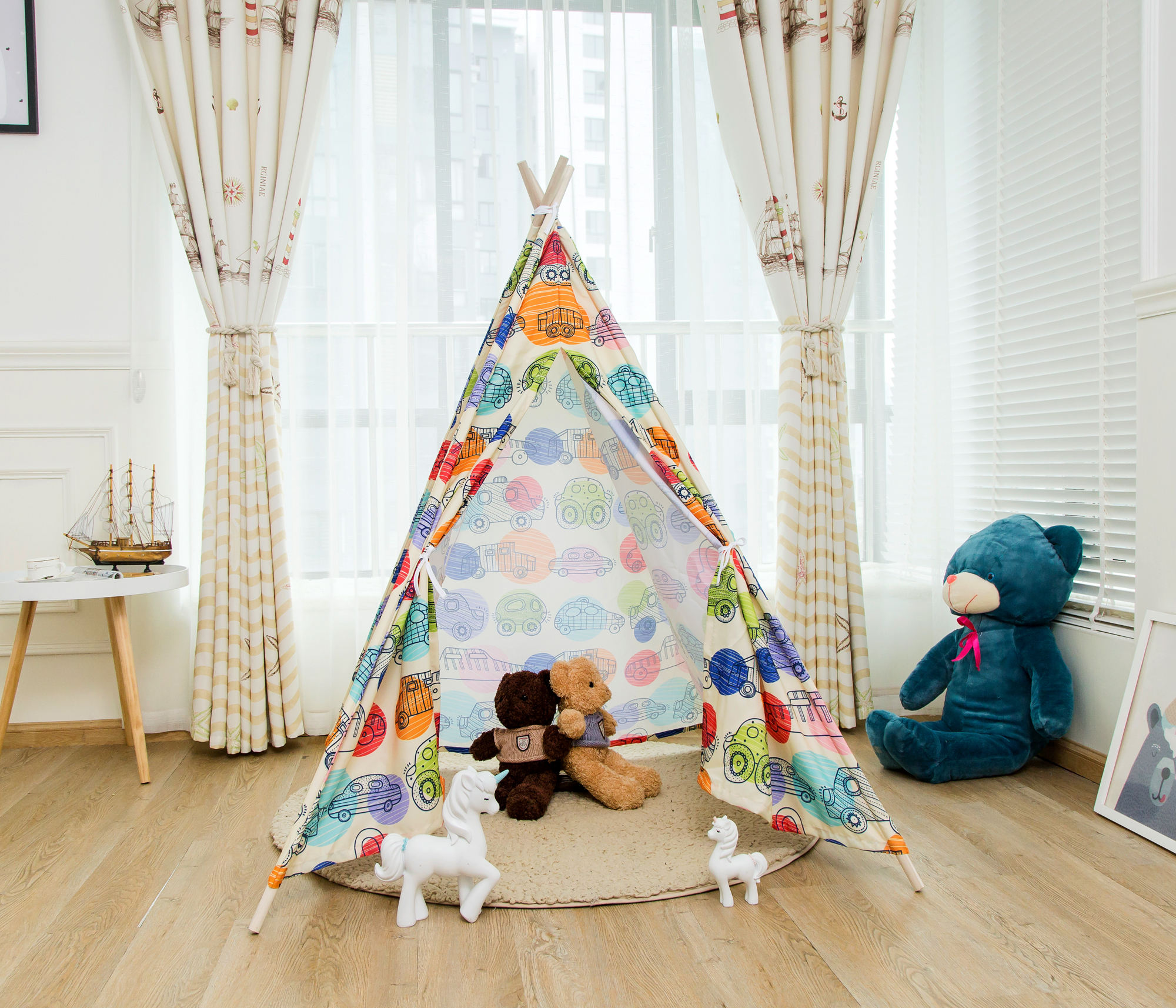 Wholesale Customized Kids Play Tent Car Animal Printing Teepee Tent Kids