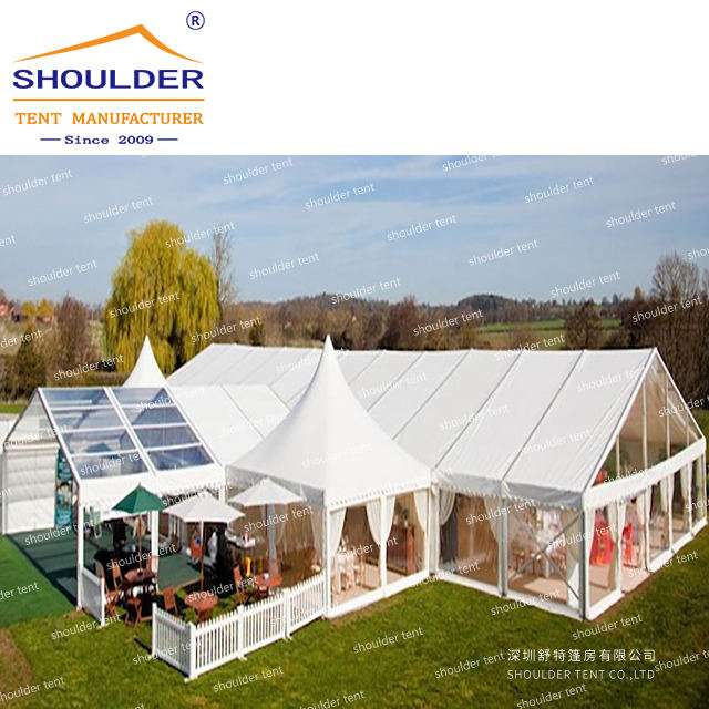 easy assembly and disassembly waterproof wedding tent for catering with tables and chairs