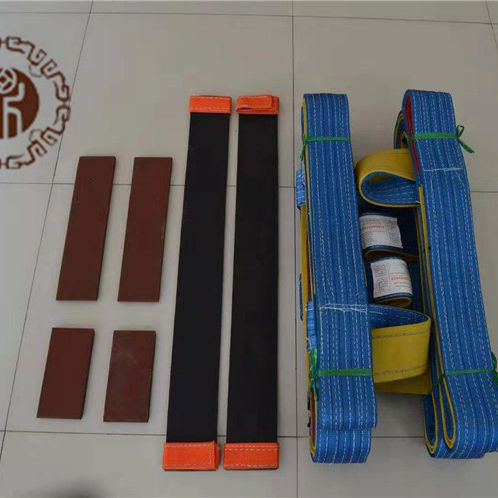 3.5 M Sampai 4.5 M Heavy Duty Datar Tinggi Intensif Polyester Anyaman Glass Lifting Sling 10 Ton/20 ton