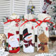 Non-woven Fabric Christmas Wine Bottle Cover Bag Snowman Santa Claus Bags For Party New Year Dinner Decoration Xmas Gift