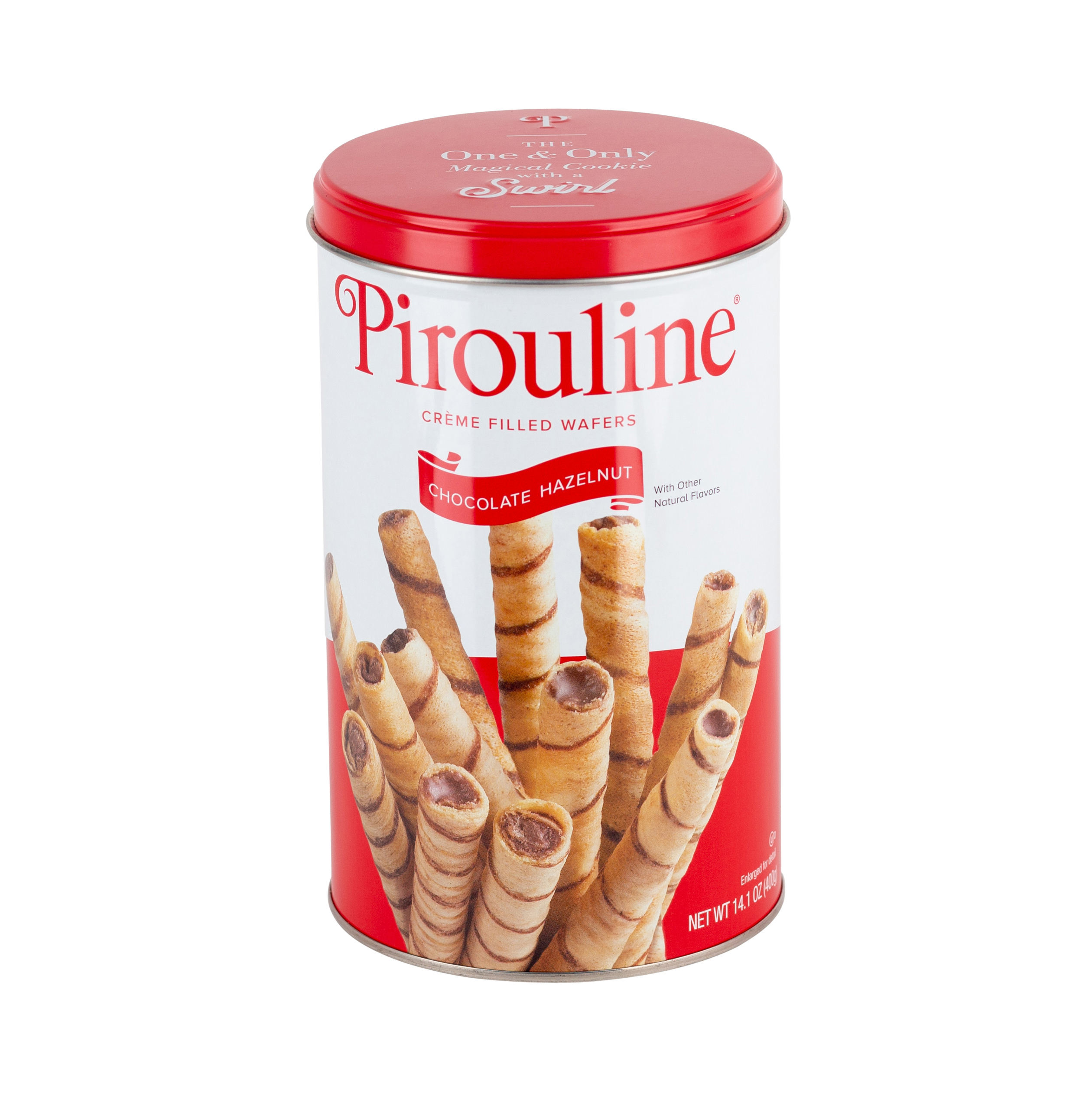 Pirouline barquillo-avellana <span class=keywords><strong>Chocolate</strong></span> relleno <span class=keywords><strong>de</strong></span> crema 14oz Estaño