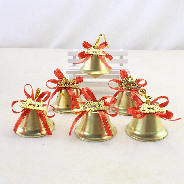 Christmas Decoration Supplies Bell for Christmas Tree Gold Jingle Bells Ornament