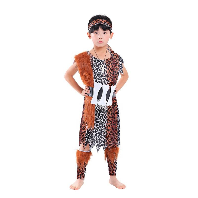 Halloween Kids primitive Costume kindergarten Children Cosplay Indian Savage Costume
