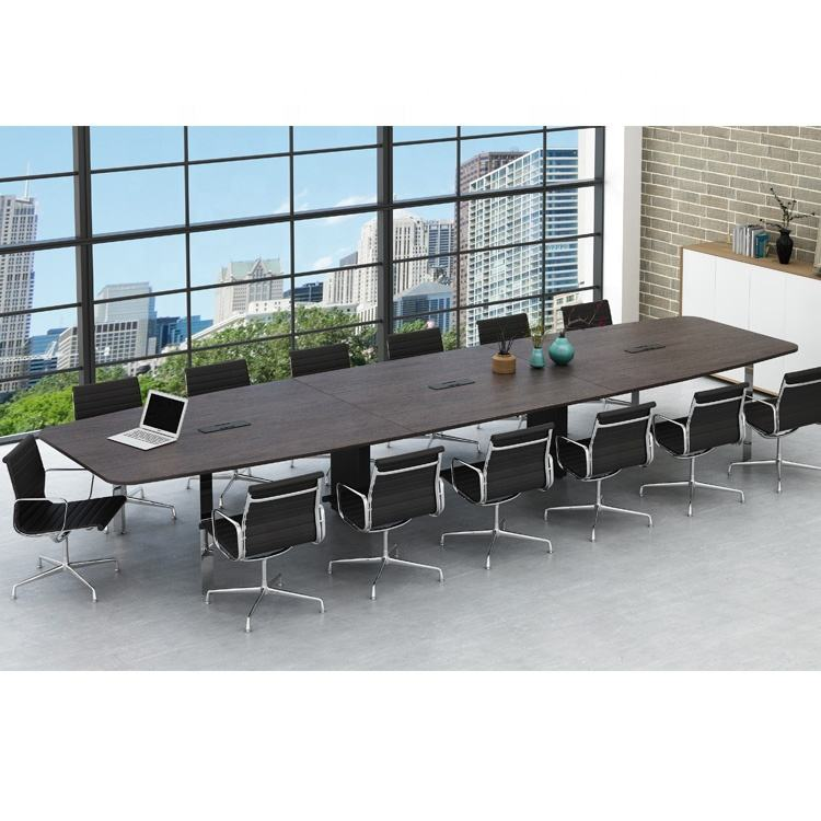 SLD Series Modern Luxury Meeting Table Set Design High End Oval 16 Person Conference table