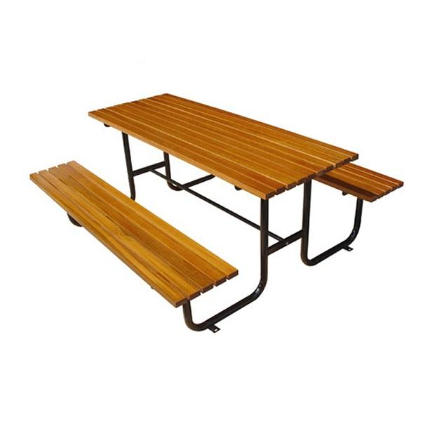 Outdoor garden patio Restaurant Wood picnic table beer table with bench