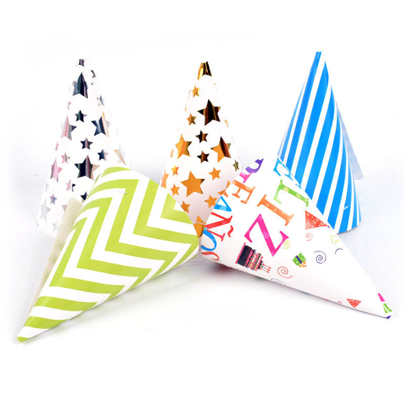 6 PC/Bag Party Paper Hat for Christmas Day and Birthday Party, Party Supplies for Celebrating