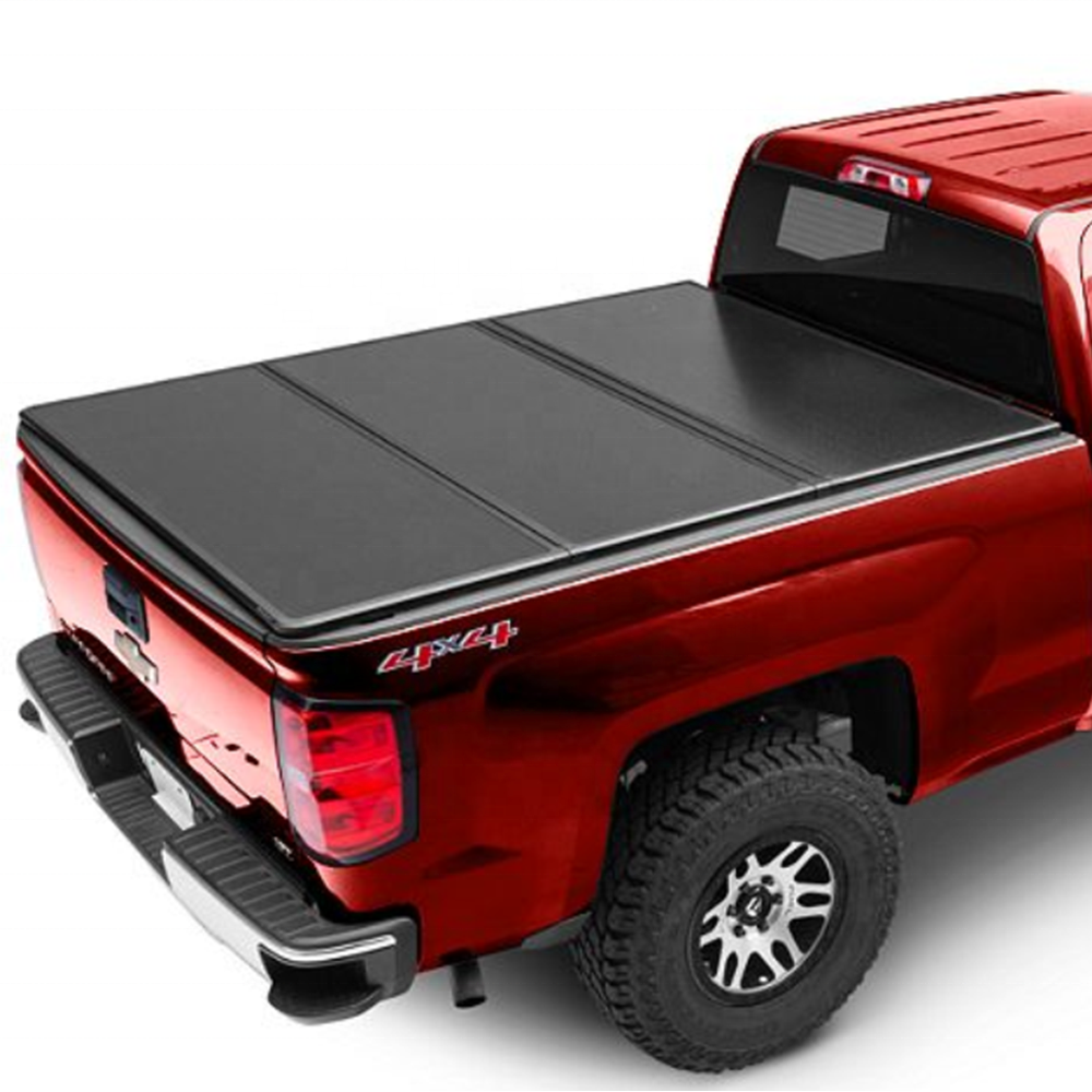 KSCPRO משאית אביזרי קשה Tri-לקפל Tonneau כיסוי מיטת מכסה Fit עבור פורד F150 5.5FT
