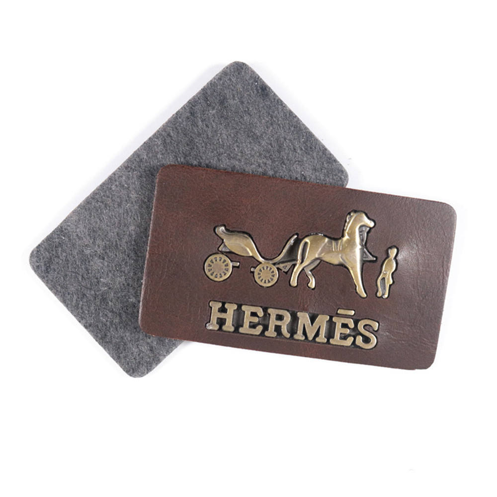 Custom Garment Labels handbag Embossed PU Leather Label Jeans Patches With design Logo