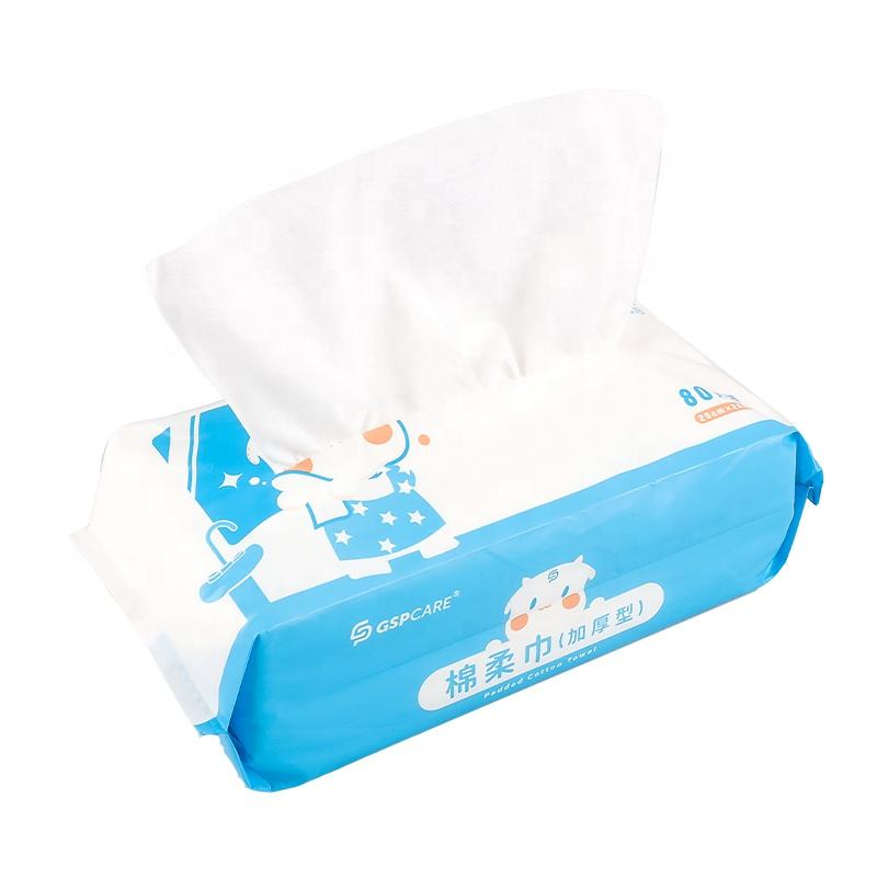 China factory Baby Wet And Dry Face Wash Towel Female Disposable Cleansing Towel Makeup Remover Cotton Soft Towel s