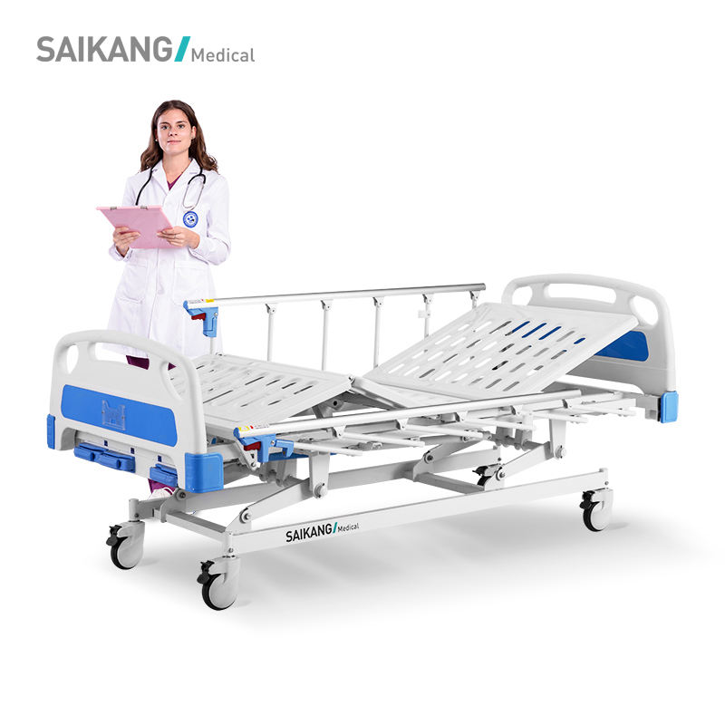 A3w Saikang Professional Service High Quality Three Crank Manual Hospital Bed