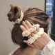 Hot Sales Women Elegant Pearl Hair Ties Beads Girls Scrunchies Rubber Bands Ponytail Holders Hair Accessories Elastic Hair Band