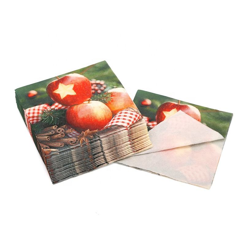 Color printed paper napkin with custom design for beverage party