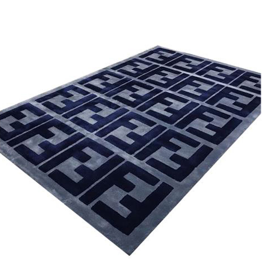 Fendi Style Design Home Rug Alfombras Price Luxury Custom Handmade Wool Carpet Rug From China factory