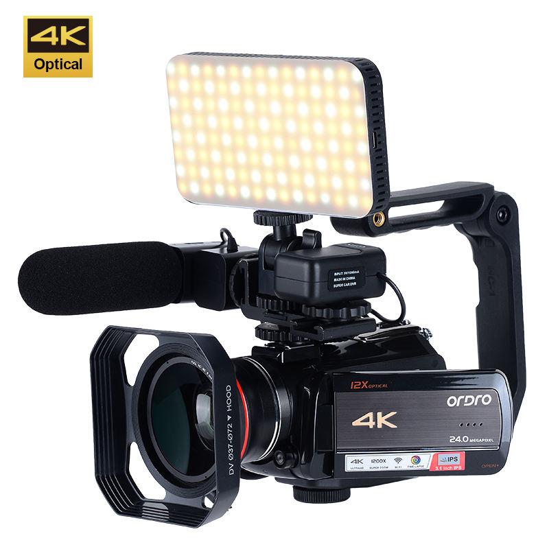 Professional 4K Full HD 1080P Touch Screen Vlogging Face Detect Handy Digital Video Camera