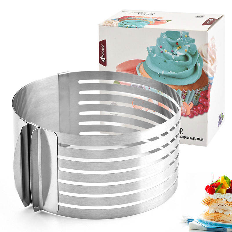 Adjustable layered Cake Slicer stainless steel mousse rings circular cake mold die 6-8 inch baking mold cake rings