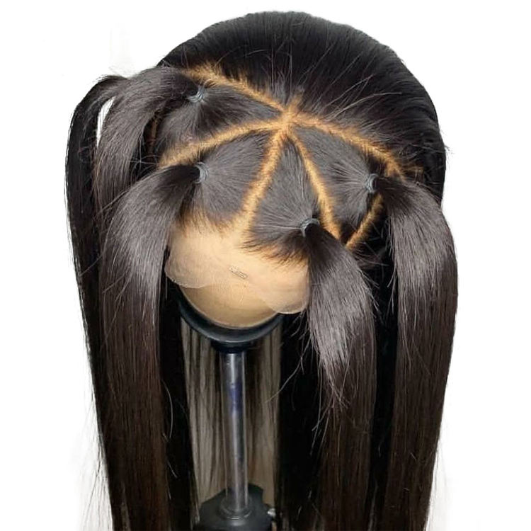 pre plucked hairline 100% virgin human hair transparent swiss film lace wigs wholesale cheap human hair full lace wig