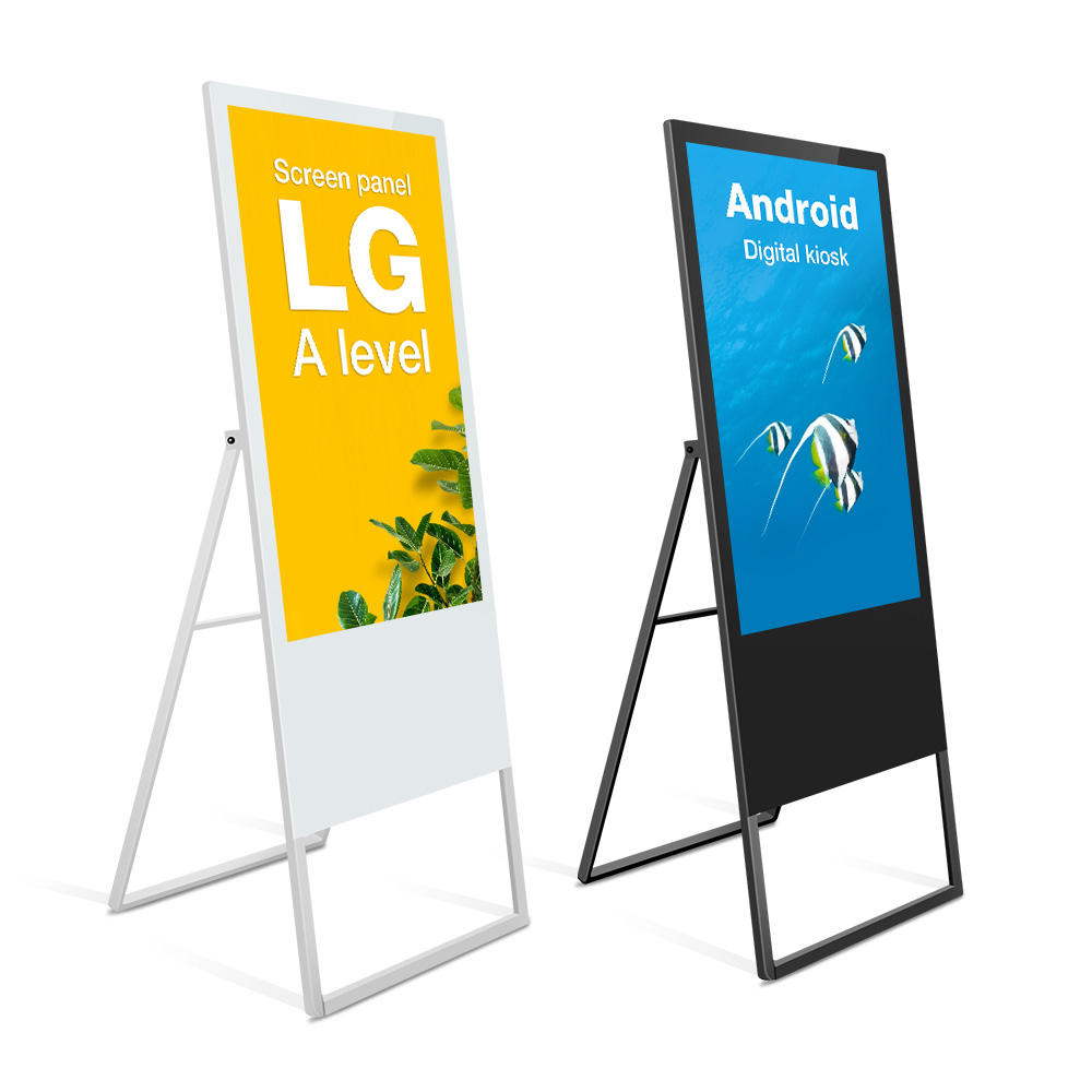 "4G 32 43 55"" inch indoor 4k advertising lcd totem android digital signage kiosk"