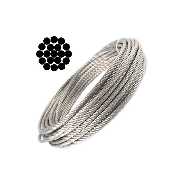 304 316 316L Stainless Steel Wire Rope Cable with Wholesale price for Lifting / Marine / Architecture