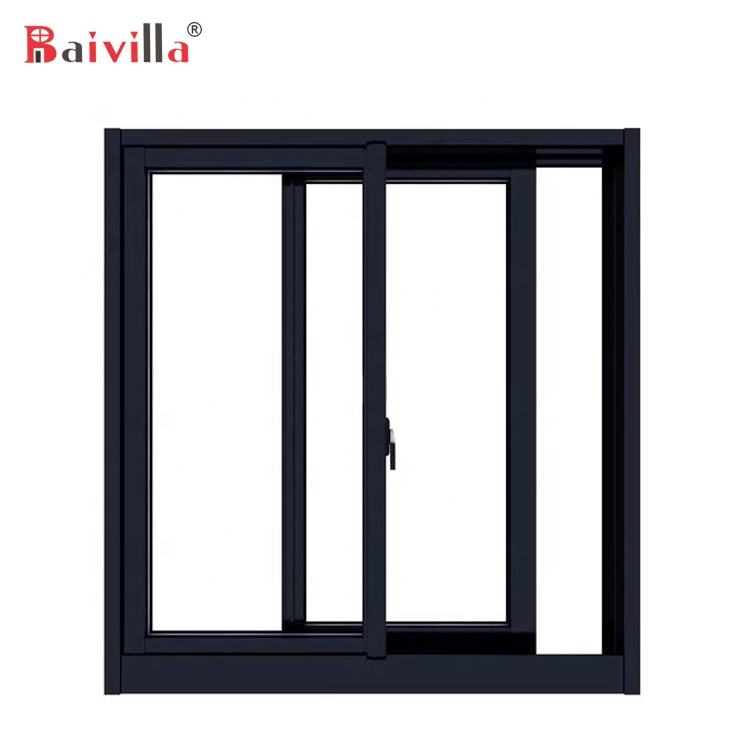 Latest Design Small Aluminum Slide Window With Mosquito Screen