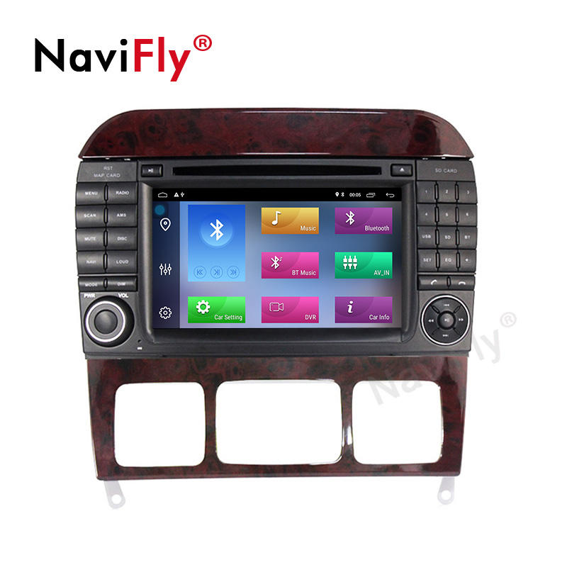 Navifly 7 Inch Android 10 Quad Core 2G RAM+32G Car DVD Player for Benz S280 S320 S350 S400 S500 W220 W215 C S Class Wifi Gps
