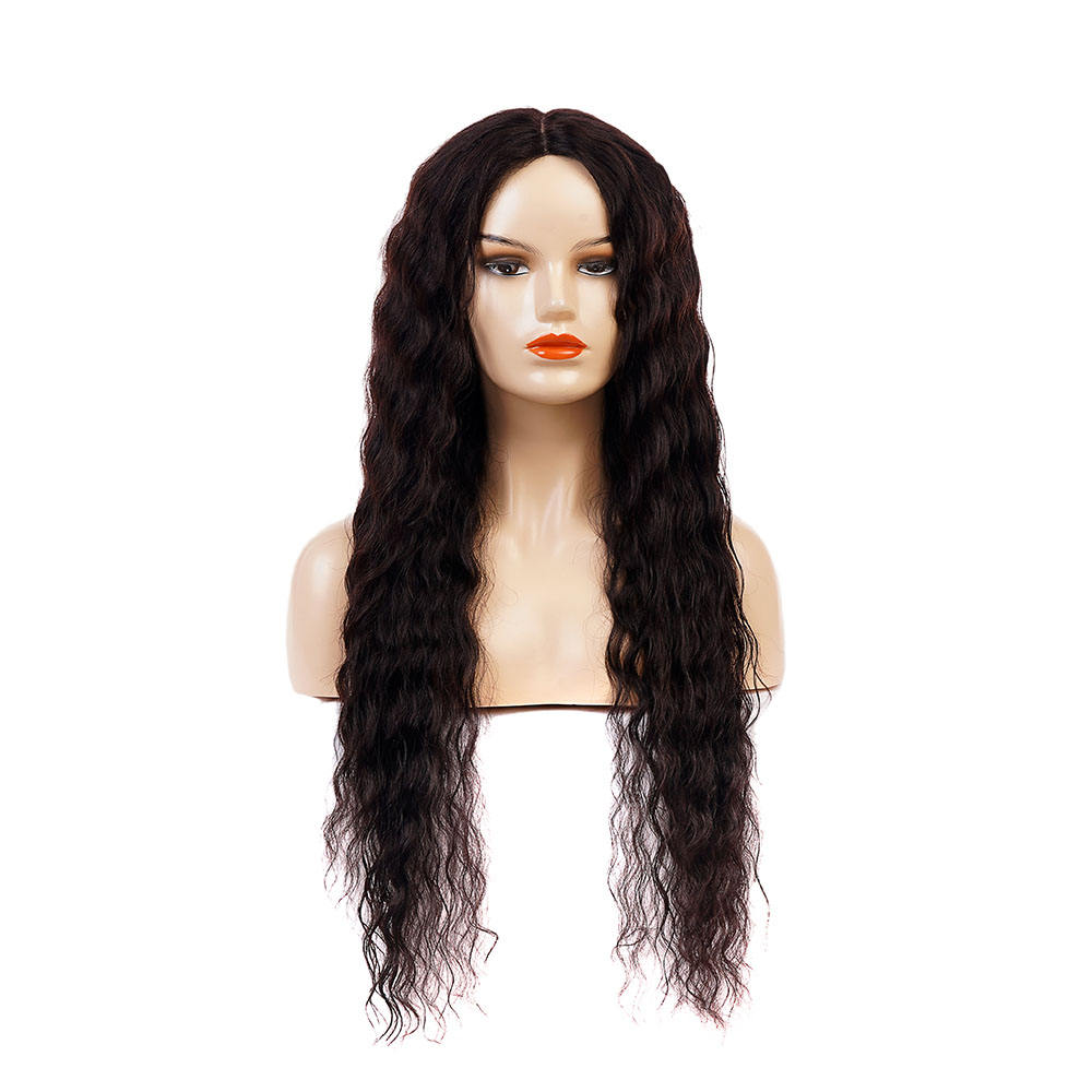 wholesale water wave long wig 33 inch cheap Middle part Lace Front Human Hair Wigs For Black Women cheap 100% Human Hair Wig