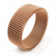 Cheap Jewelry Men Ring Design Dressy Braided Design Cheap Men Fine Jewelry Mesh Elastic Ring