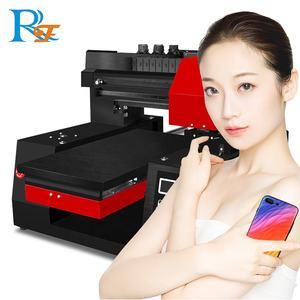 A3 A4 UV printer Electric/manual flatbed printer cell phone case plastic card transparent business card printing machine