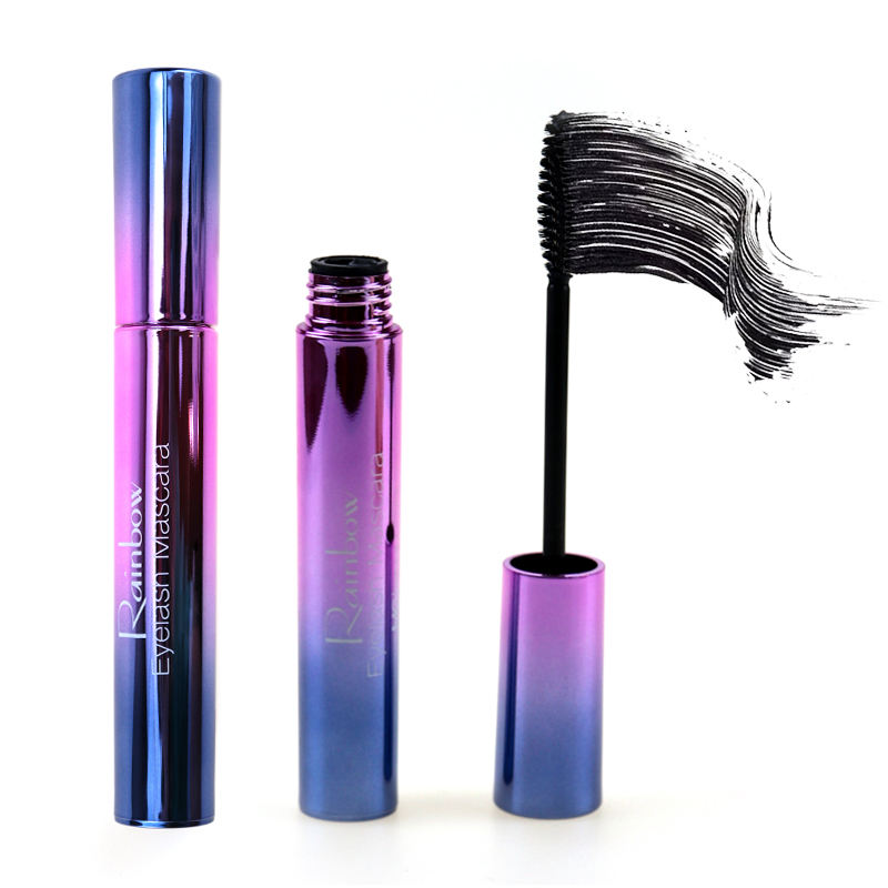 Hottest Rainbow Matte Mascara Black Waterproof Volumizing 4D Silk Fiber EyeLash Mascara