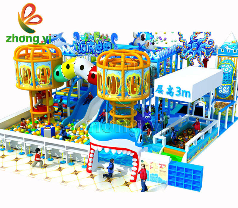 children indoor amusement park colorful soft play area