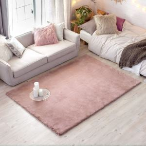 Bedroom extra soft silky smooth shaggy synthetic fluffy carpet fur rug