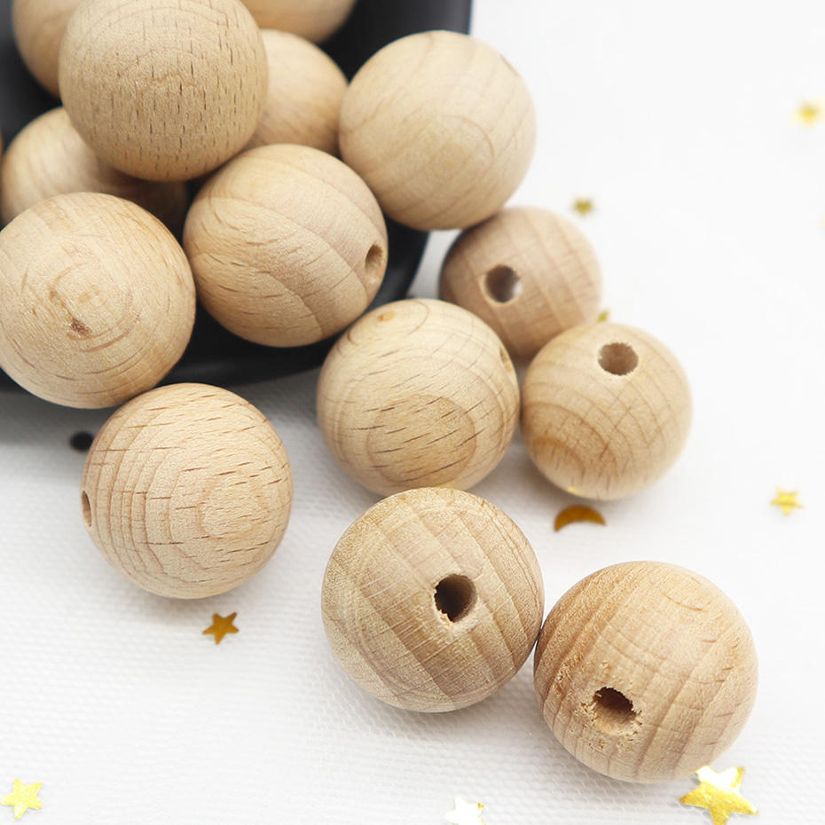 Free Sample Baby Teether Wooden Beads Teether, Loose Wood Teething Beads
