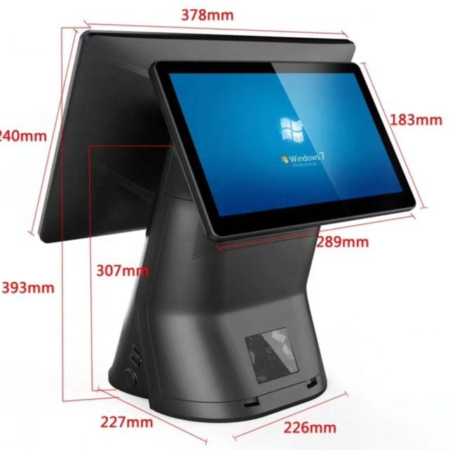 Newest 15.6+11.6 Inch Dual Screen Pos system All in one Machine