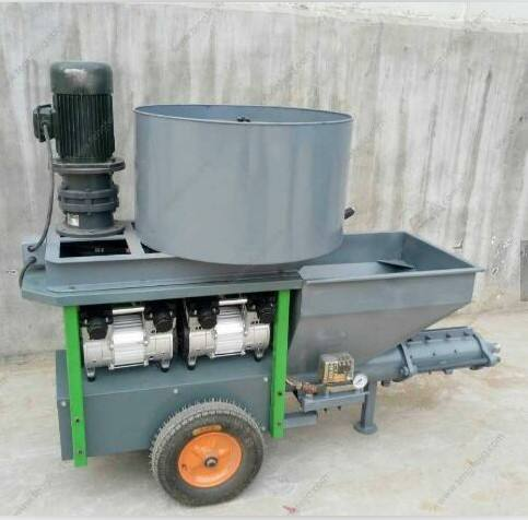 5m3 Per Hour Electric Mortar Cement Spraying Machine Wall Plastering With Air Compressor