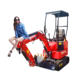 Chinese digger mini 1 ton hydraulic used crawler micro excavator with bucket for sale