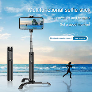 Remote control wireless mini telescopic tripod selfie stick