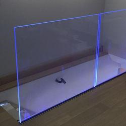 Outdoor LED light aluminum glass balustrade u channel glass railing for decks balcony