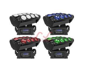 Colorful Rotation Beam Led Stage Lighting Disco Effect 4in1 RGBW 8x12w Spider Moving Head