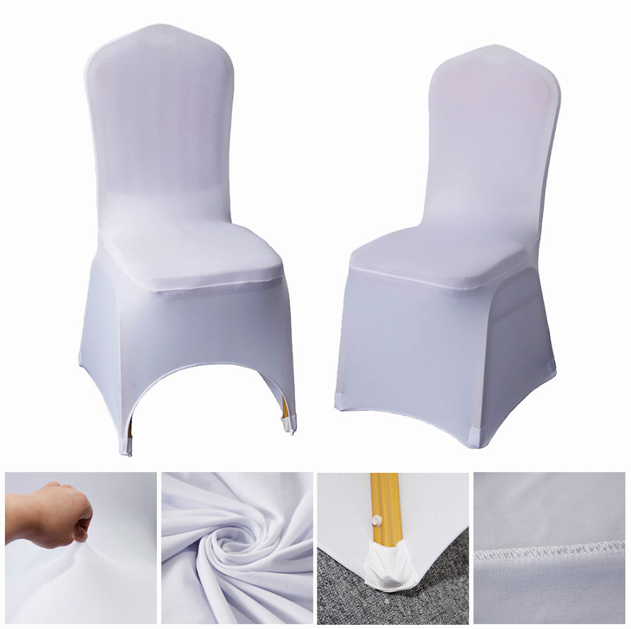 Housse De Couvre Chaise Mariage Blanche Bistro Chair Covers Clothes For Chairs Living Room