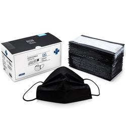 black 3 layers non-woven fabrics disposable hanging respirator microblading disposable tool