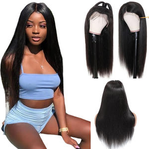 Brazil Real Hair Front Lace 4*13 straight wigs virgin hair Remy hair
